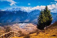 romania Rumänsk natur, landskap, landskap i vår Arkivbild