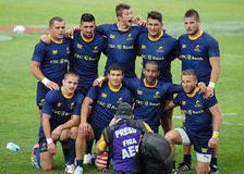 Romania's RUgby 7 team posing after the competition Royalty Free Stock Photo