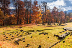 Romania, Sarmizegetusa Regia. Dacian ruins Fortress Stock Images