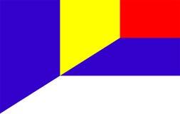 romania serbia flag Stock Images