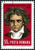 ROMANIA - 1970: shows Ludwig van Beethoven (1770-1827), composer Royalty Free Stock Photos
