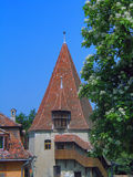 Romania. Sighisoara. Summer in Romania, Sighisoara. Tower Royalty Free Stock Photo