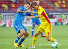 ROMANIA-SLOVAKIA, INTERNATIONAL FRIENDLY GAME Royalty Free Stock Photo