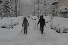 Romania Snow Storm Royalty Free Stock Photos