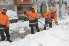 Romania Snow Storm Stock Images