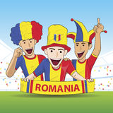 Romania Sport Fans Stock Photography