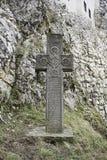 Romania stone cross royalty free stock photo