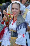 Young woman from Italy in traditional costume Royalty Free Stock Photos