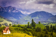 Romania, Transylvania scenery. Landscape with nature and mountains in spring, summer Royalty Free Stock Photos