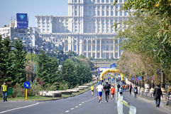 Romania unirii boulevard Royalty Free Stock Photography
