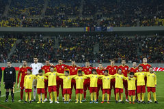 Romania-Uruguay Friendly Match Royalty Free Stock Image