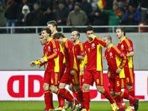 Romania-Uruguay Friendly Match Stock Image