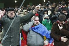 Romania-Uruguay Friendly Match Incidents Stock Photo
