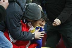 Romania-Uruguay Friendly Match Incidents Stock Image
