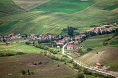 Romania village from above Stock Photography
