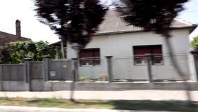 Romania village drive stock footage