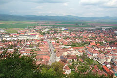 Romania village panorama, Rasnov Stock Images