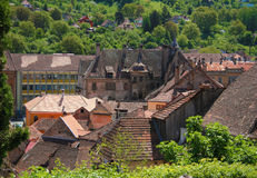 Romania village panorama, Sighisoara Royalty Free Stock Images