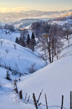 romania vinter Royaltyfri Bild