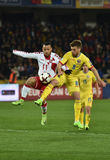 Romania vs Denmark FIFA World Cup Qualifiers match Stock Photography