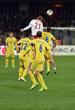 Romania vs Denmark FIFA World Cup Qualifiers match Stock Image