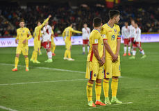 Romania vs Denmark FIFA World Cup Qualifiers match Royalty Free Stock Photos