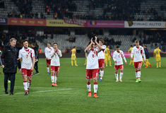 Romania vs Denmark FIFA World Cup Qualifiers match Royalty Free Stock Photo