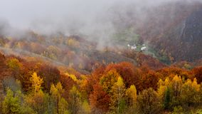 Romania wild Carpathian mountains in the autumn time landscape Stock Images