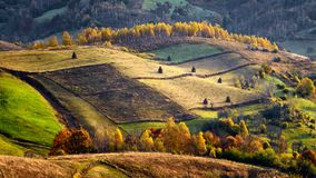 Romania wild Carpathian mountains in the autumn time landscape. On a sunny beautiful day stock photos