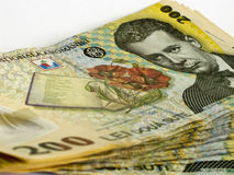 Romanian 200 leus Imagem de Stock Royalty Free