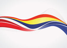 Romanian abstract flag background stock illustration