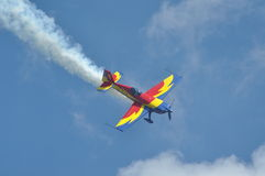 Romanian Aerobatic Team performs a flight Stock Image