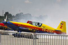 Romanian aeronautic team Royalty Free Stock Photos