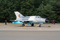 Romanian Air Force MiG-21 fighter jet Stock Photography