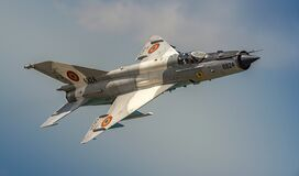 Free Romanian Air Force Mig21 Lancer Jet Plane Stock Image - 196257961