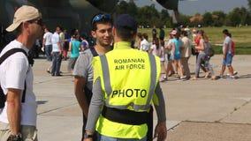 Romanian air force photographer stock video