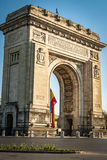 Romanian Arch of Triumph in Bucharest, Romania Stock Image