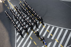 Romanian army parade, in Bucharest Stock Photography