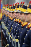Romanian army. A photo made on 1 december, the national day of Romania stock image