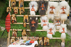 Romanian artefacts. Icons and masks for selling Royalty Free Stock Photography