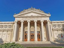 Romanian Athenaeum in Bucharest, Romania Royalty Free Stock Photos