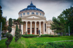 The Romanian Athenaeum in Bucharest Stock Image