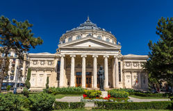 Free Romanian Athenaeum In Bucharest Royalty Free Stock Photography - 46594987