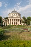 The Romanian Athenaeum. Is a concert hall in the center of Bucharest, Romania and a landmark of the Romanian capital city Stock Image