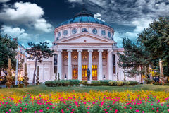 Romanian Atheneum, Bucharest. stock photo