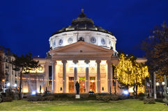 Romanian Atheneum, Romania Royalty Free Stock Photo