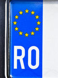 Romanian auto license plate Stock Image