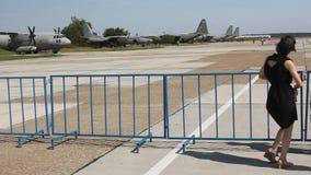 Romanian aviation day parade. stock video