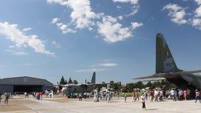 Romanian aviation day parade. stock video footage