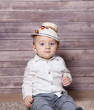 Romanian baby boy Stock Photos